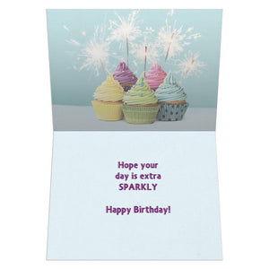 Extra Sparkly Birthday Greeting Card