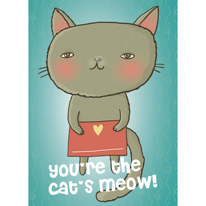 Cats Meow Valentine's Day Greeting Card