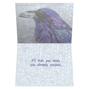 Healing Raven Support Greeting Card