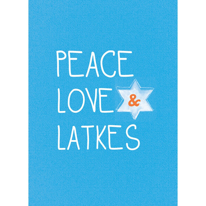 Peace Love And Latkes Hanukkah Greeting Card