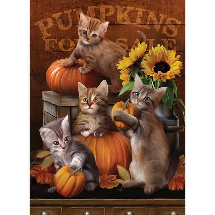 Autumn Kisses Fall & Thanksgiving Greeting Card