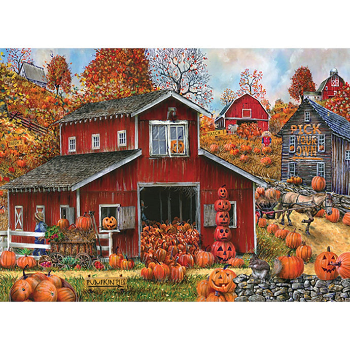 Piled High Pumpkin Fall & Thanksgiving Greeting Card