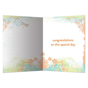 I Wish You Joy Wedding Greeting Card