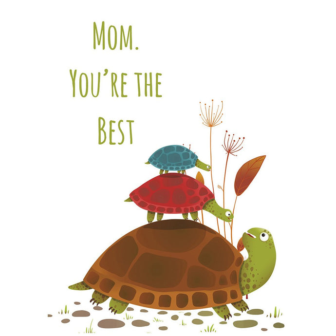 Turtles Mom Mother's Day Greeting Card