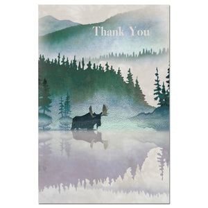 Moose Watercolor Thanks Thank You Greeting Card