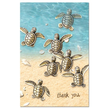 Load image into Gallery viewer, Baby Turtle Thanks Thank You Greeting Card