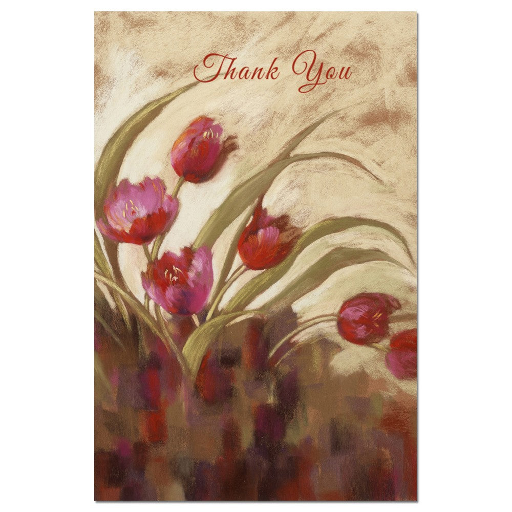 Tulips Landscape Thanks Thank You Greeting Card