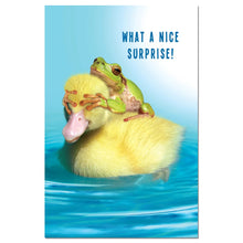 Load image into Gallery viewer, Duck Duck Frog Thanks Thank You Greeting Card