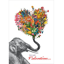 Load image into Gallery viewer, Love Elephant Valentine Valentine's Day Greeting Card
