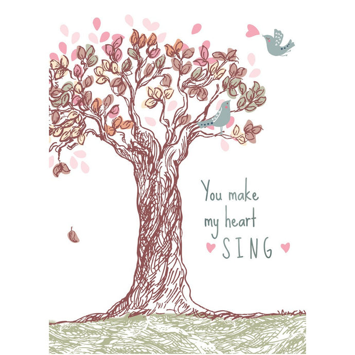 Heart Sing Anniversary Greeting Card