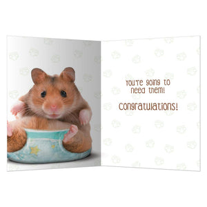 Got Diapers New Baby Greeting Card