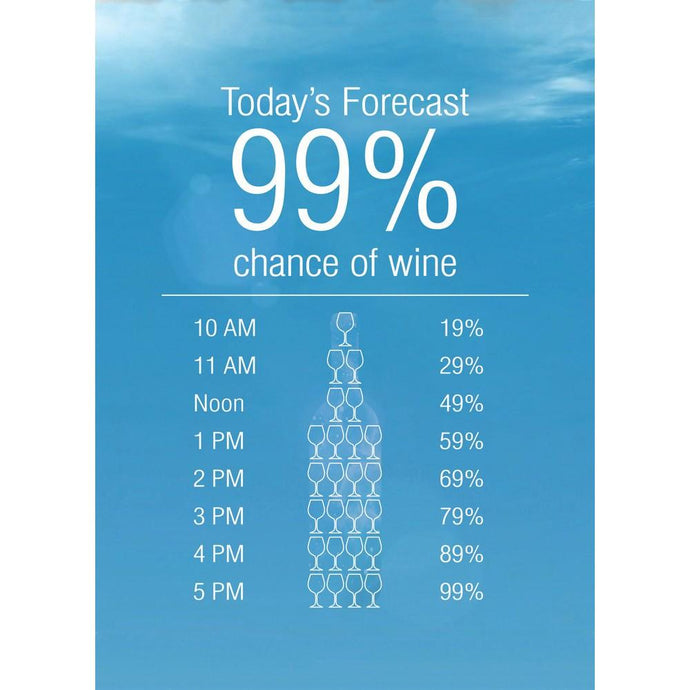 99% Chance Of Wine Birthday Greeting Card