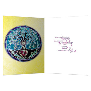 Tree Of Life Wedding Blessing Wedding Greeting Card