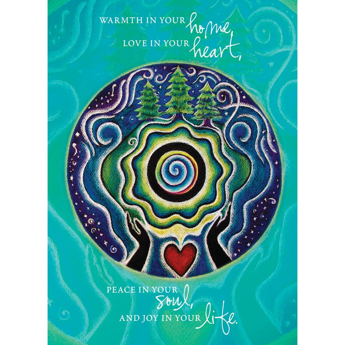 Holiday Mandala Blessing Solstice Greeting Card