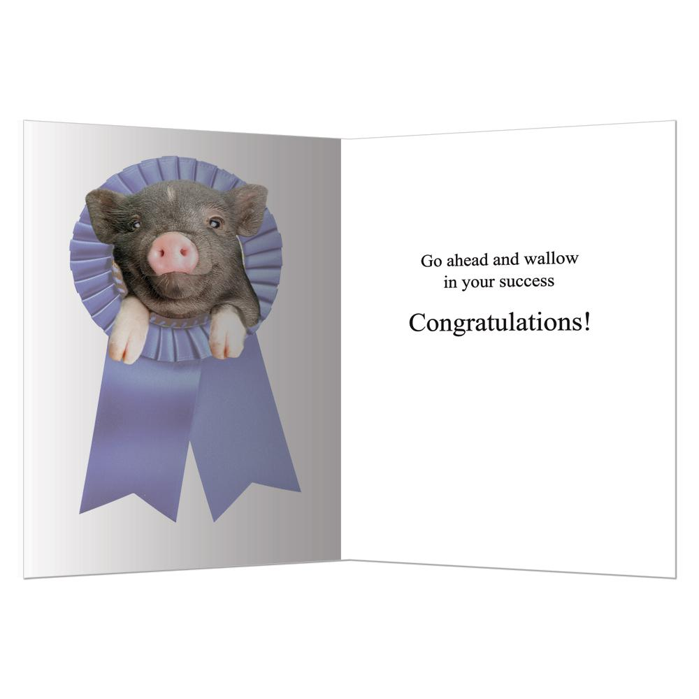 Wallow Away Graduation Greeting Card