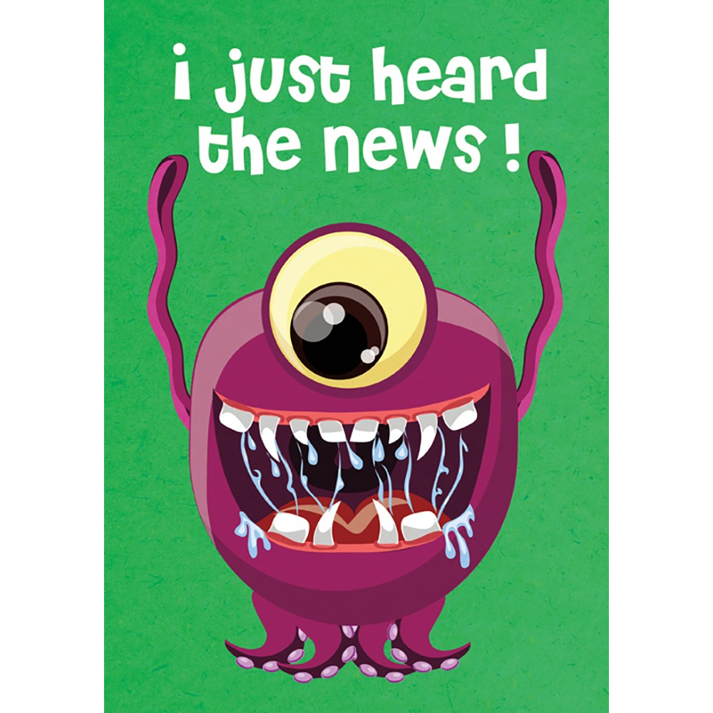 Monstrously Awesome 4 Pack Graduation Greeting Card