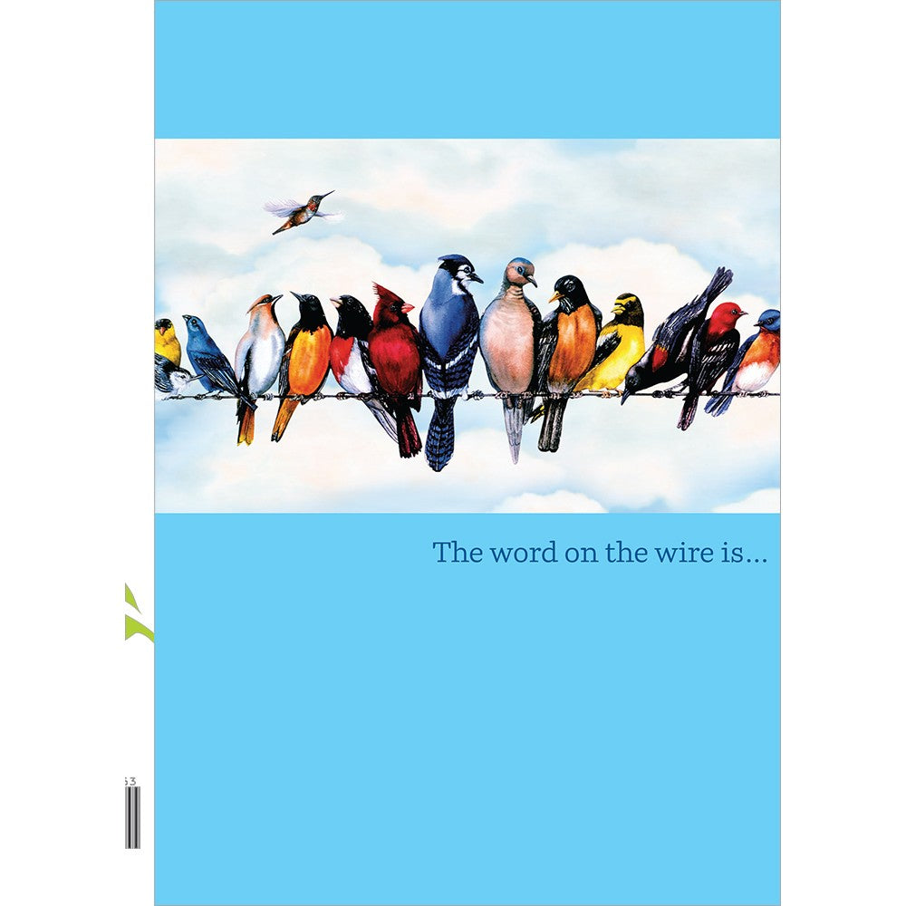 Word On The Wire 4 Pack Graduation Greeting Card