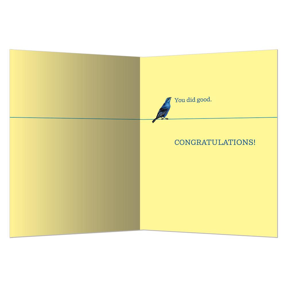 Word On The Wire Graduation Greeting Card