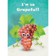 Load image into Gallery viewer, So Grapeful Thank You Greeting Card