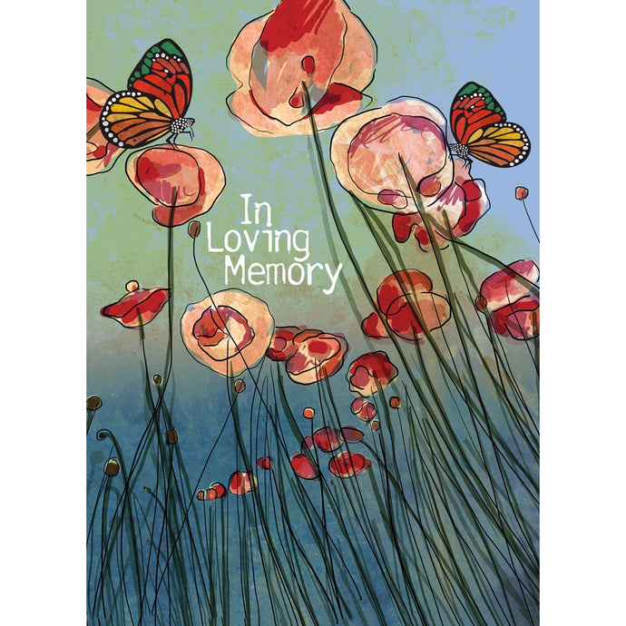 Poppies Remembrance Sympathy Greeting Card