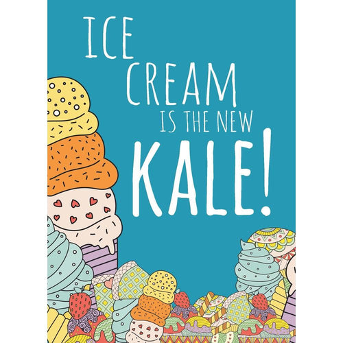 New Kale Birthday Greeting Card