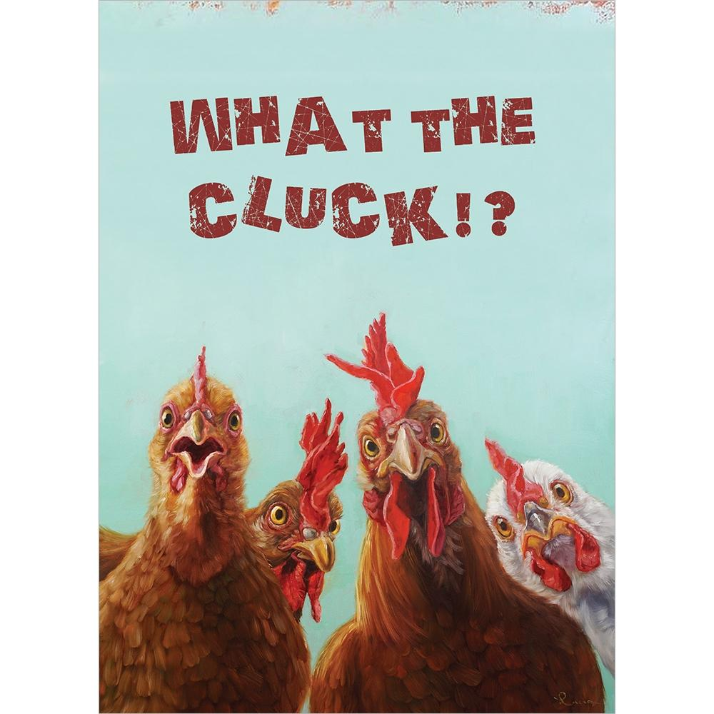 What The Cluck Birthday Greeting Card