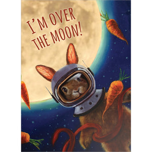 Over The Moon Thank You Greeting Card