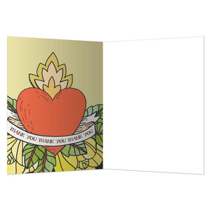 Thank You Heart Thank You Greeting Card