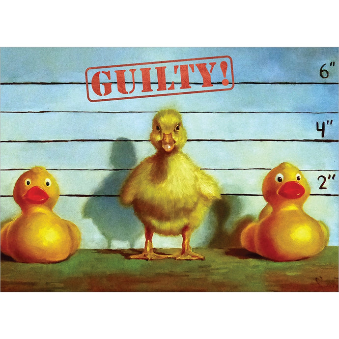 Guilty New Baby Greeting Card