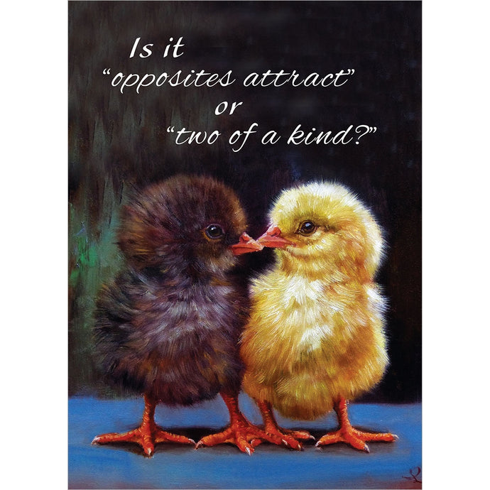 Opposites Attract Anniversary Greeting Card