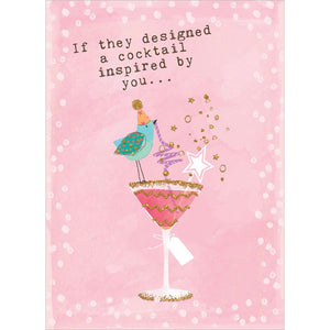 Designer Cocktail Greeting Card