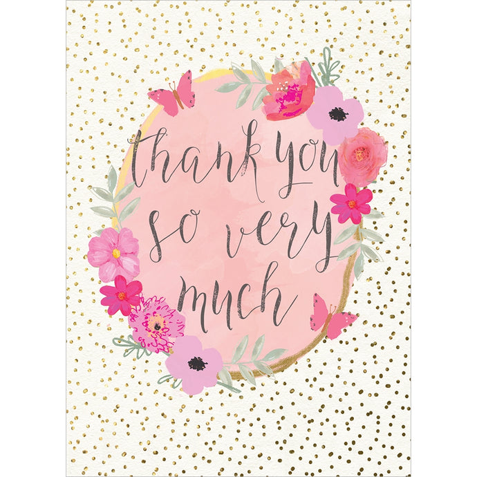 Boho Thank You Thank You Greeting Card