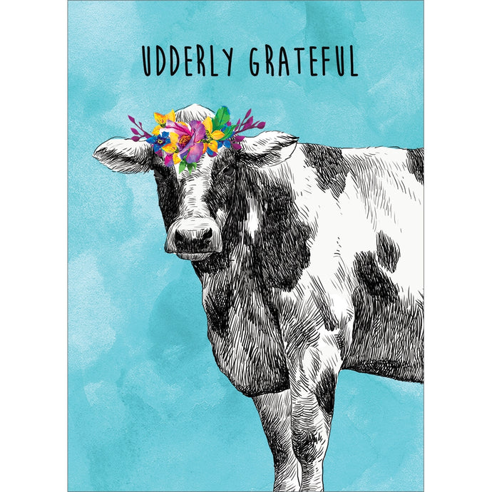 Udderly Grateful Thank You Greeting Card