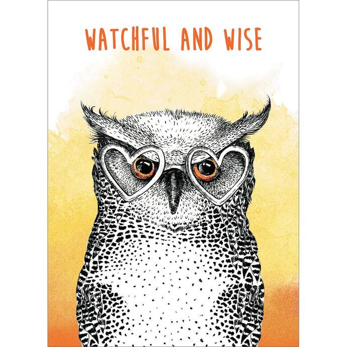 Watchful And Wise Father's Day Greeting Card