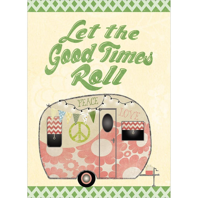 Hippie Camper Birthday Greeting Card
