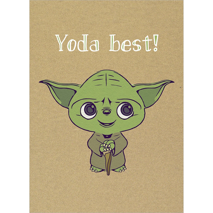 Yoda Best Thank You Greeting Card