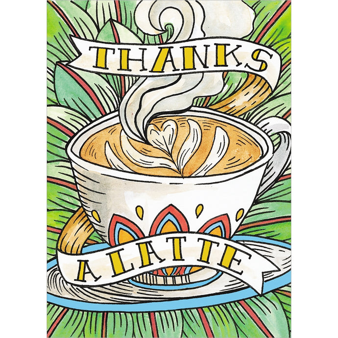 Thanks a Latte Thank You Greeting Card