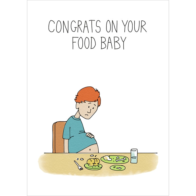 Food Baby Thanksgiving Fall & Thanksgiving Greeting Card