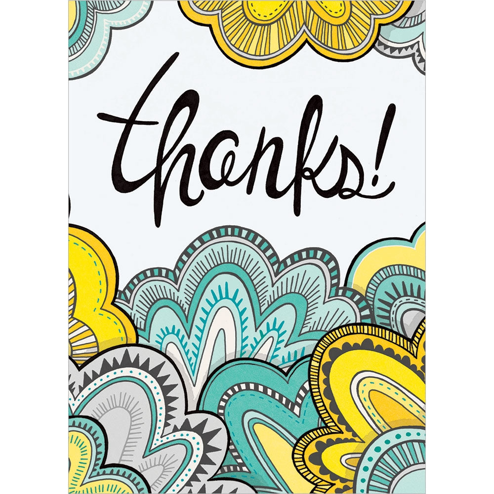 Doodle Thanks Thank You Greeting Card
