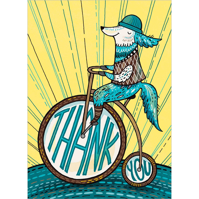 Fox Thanks Thank You Greeting Card