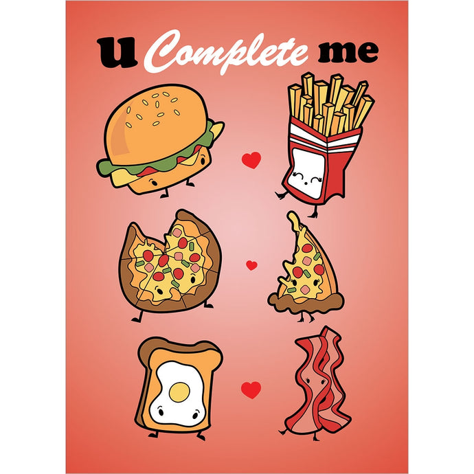 You Complete Me Valentine's Day Greeting Card