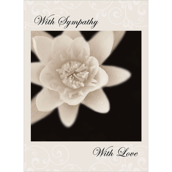 Thoughts And Hearts Sympathy Greeting Card