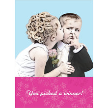 Load image into Gallery viewer, Picked A Winner Wedding Greeting Card