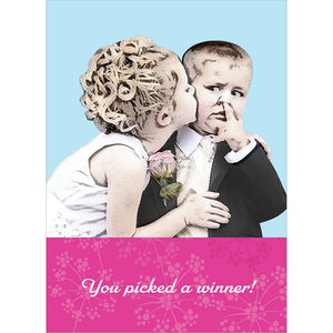 Picked A Winner Wedding Greeting Card