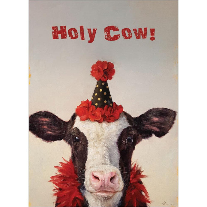 Holy Cow Birthday Greeting Card