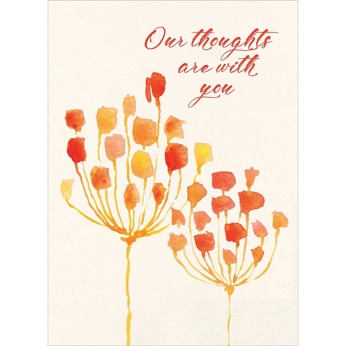 Sympathy Flowers Sympathy Greeting Card