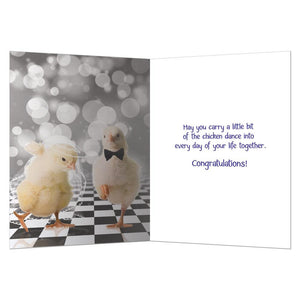 Chicken Dance Wedding Wedding Greeting Card