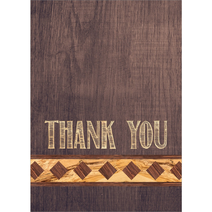 Ingrained Appreciation Thank You Greeting Card