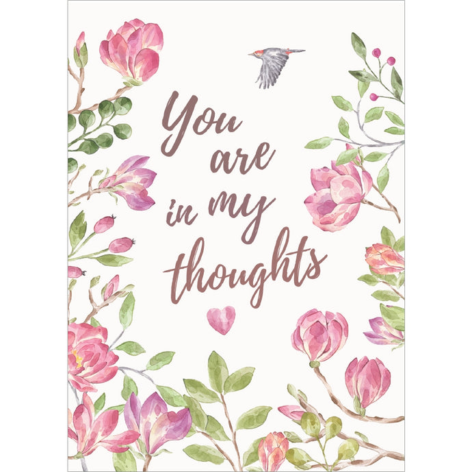 Simple Thoughts Sympathy Greeting Card