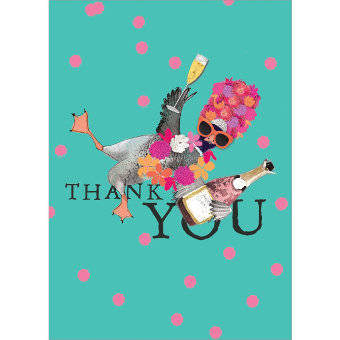 Absurdly Grateful Thank You Greeting Card